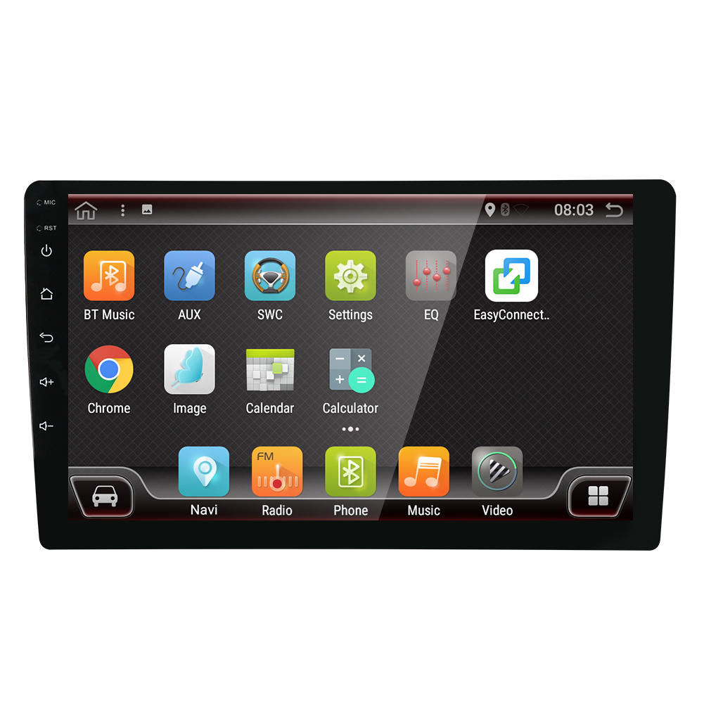 YUEHOO 10.1 Inch 2 DIN for Android 8.0 Car Stereo Radio Player 4 Core 2+32G Touch Screen 4G bluetooth FM AM RDS Radio GPS