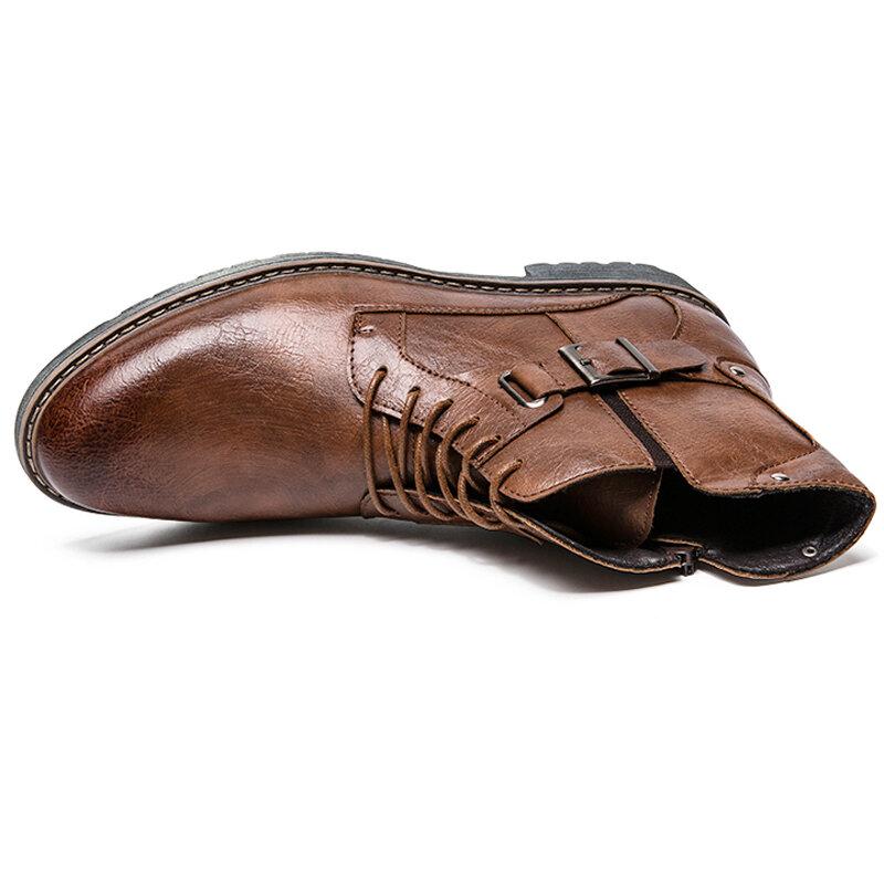 Men Anti-Collision Hand Stitching Slip Resistant Boots - 5