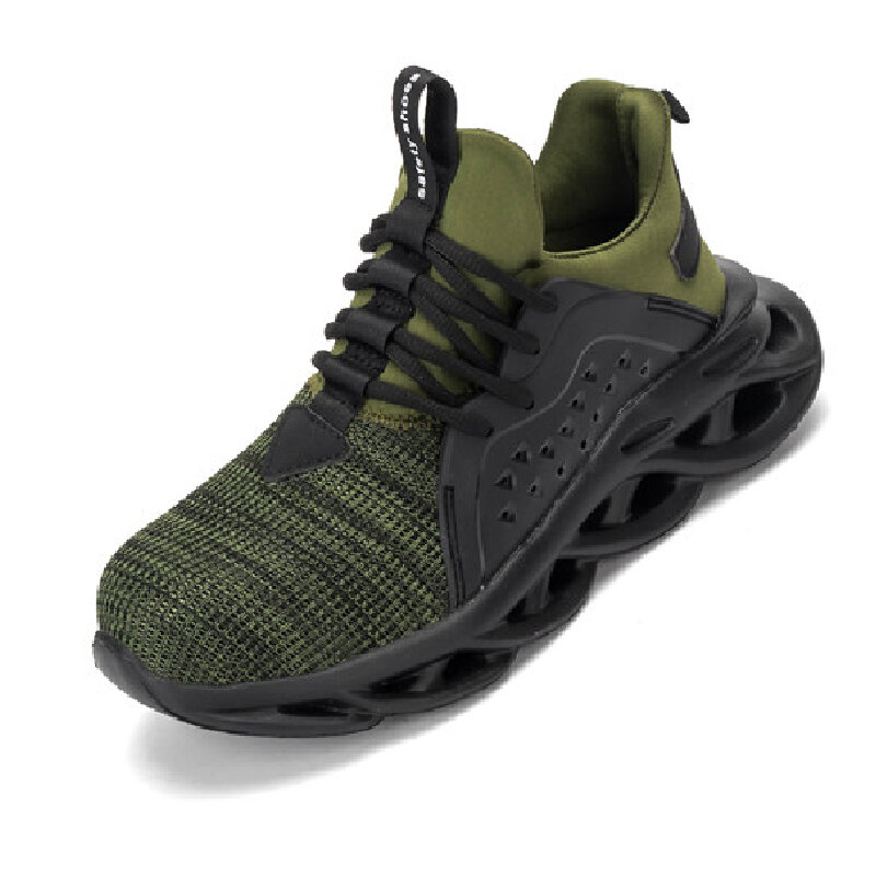 Men Camouflage Boot Lightweight Steel Toe Cap Trainers Hiking Safety Work Shoes - 7