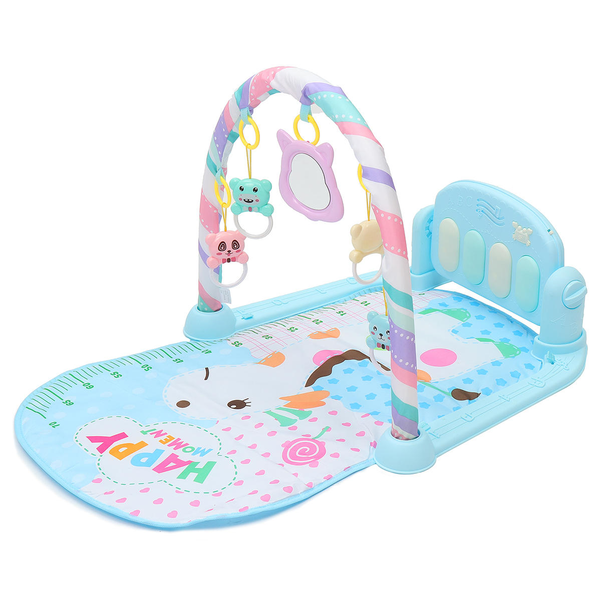 Baby Play Mat Gym Fitness Music Lights Fun Piano Boy Girl Rack Early Education - 3