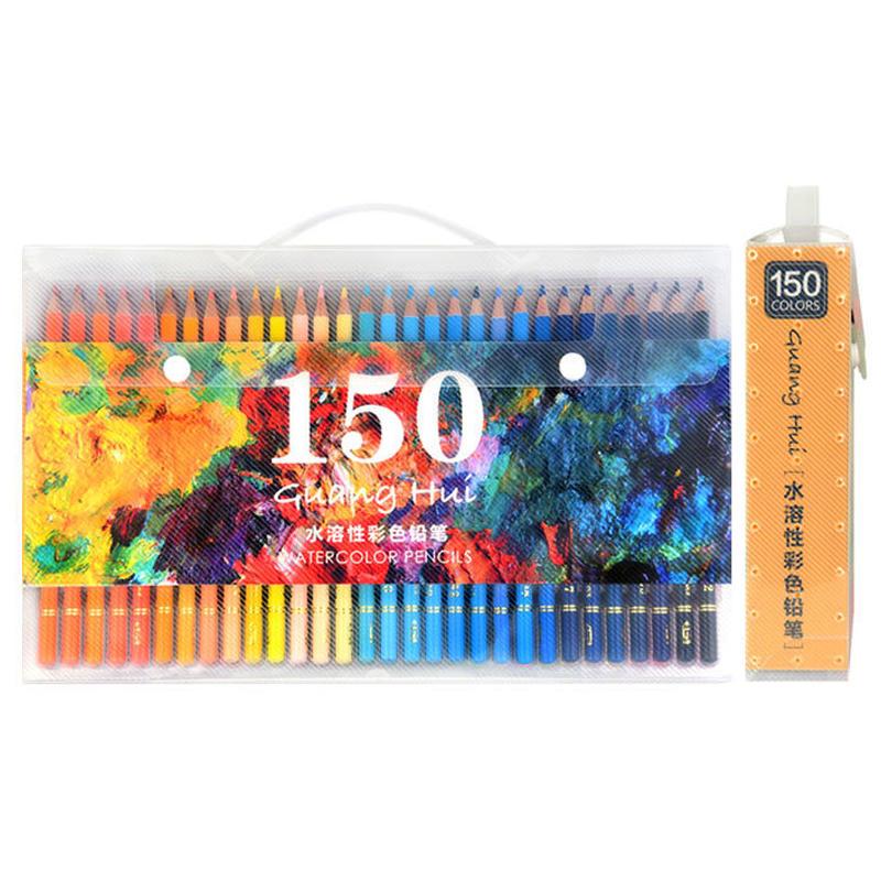 Brutfuner 608 Set di matite colorate 150 colori Matite acquerellabili solubili in acqua Pastelli per schizzi Matita arco
