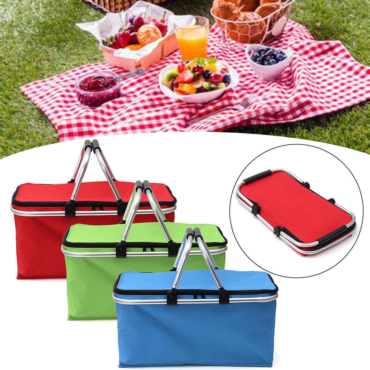 Large Folding Insulated Thermal Cooler Bag