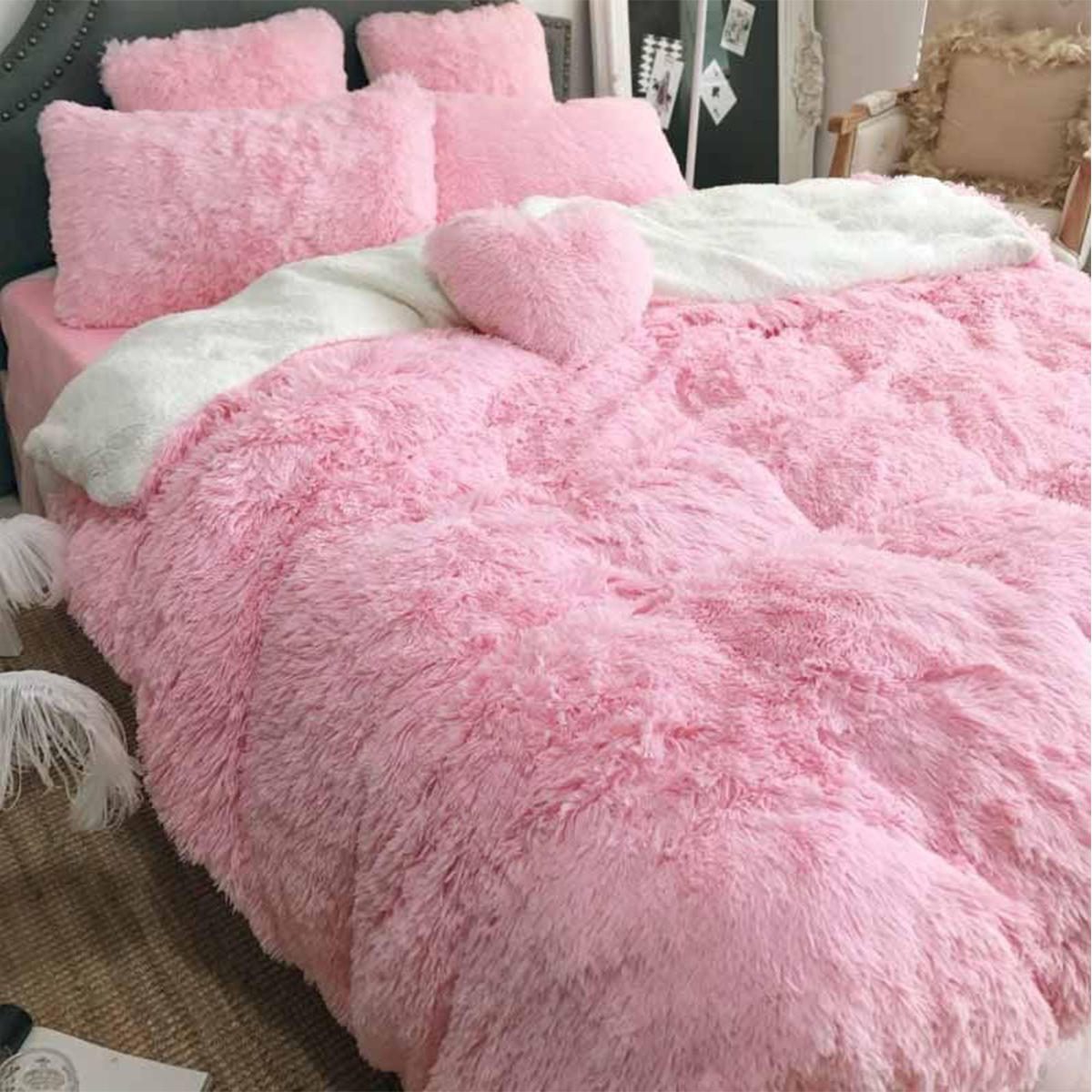 Large Soft Warm Shaggy Double Sized Fluffy Plush Blanket Throw Sofa Blankets Bed Blanket Bedding Accessories - 12