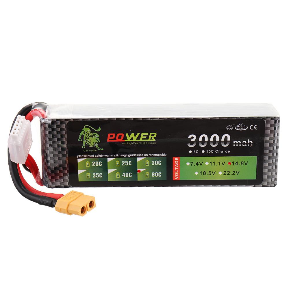 LION Power 14.8V 3000mAh 60C 4S Lipo batterij XT60 stekker voor RC FPV drone - 1