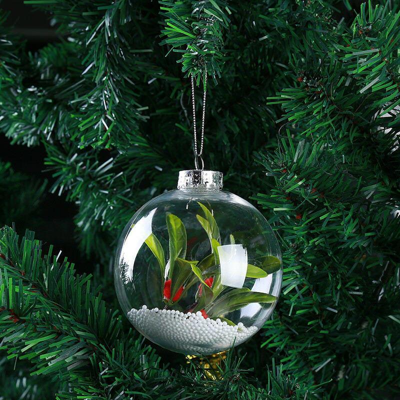 Super klar kunststoffkugeln diy weihnachtsbäume hängen kugel dekoration spielzeug - 8