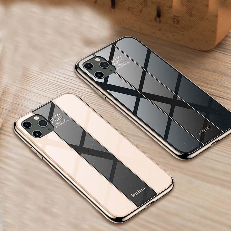 Bakeey Luxury Plating Anti-scratch Herdet glass beskyttelsesetui til iPhone 11 Pro Max 6,5 tommer