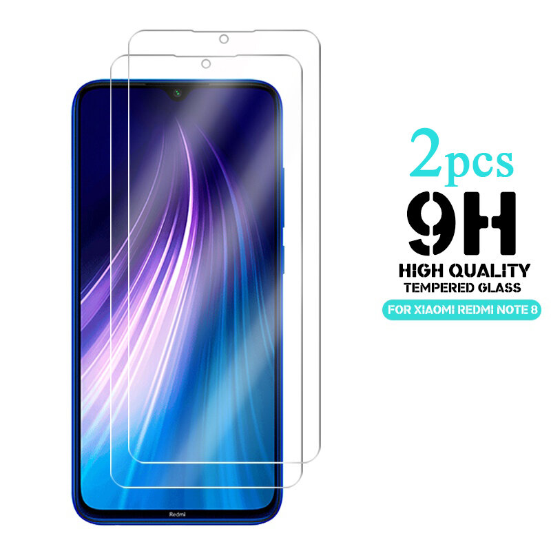 Enkay 2pcs 9H 0.26mm 2.5D Curved Anti-explosion Tempered Glass Screen Protector for Xiaomi Redmi Note 8