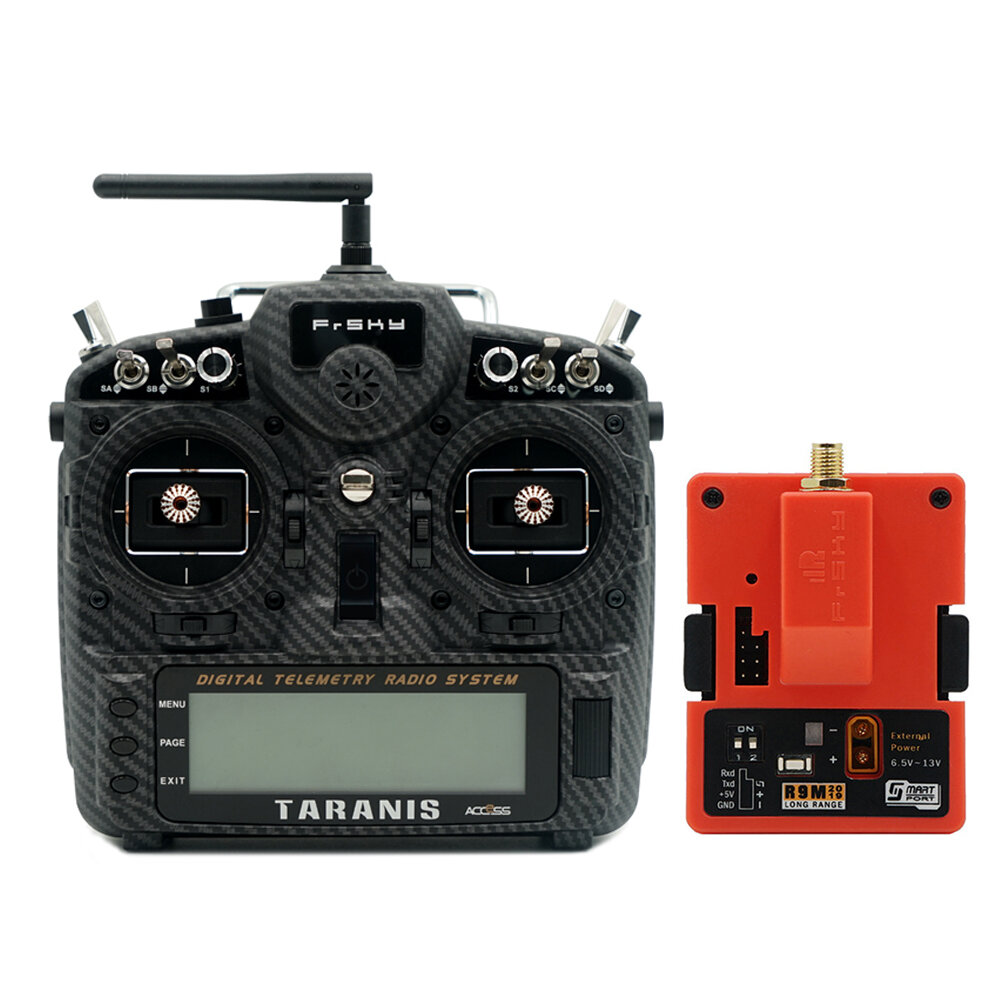 FrSky Taranis X9D Plus SE 2019 24CH ACCESS ACCST D16 Mode2 FCC Version Transmitter with R9M 2019 900MHz Long Range Transmitter Module