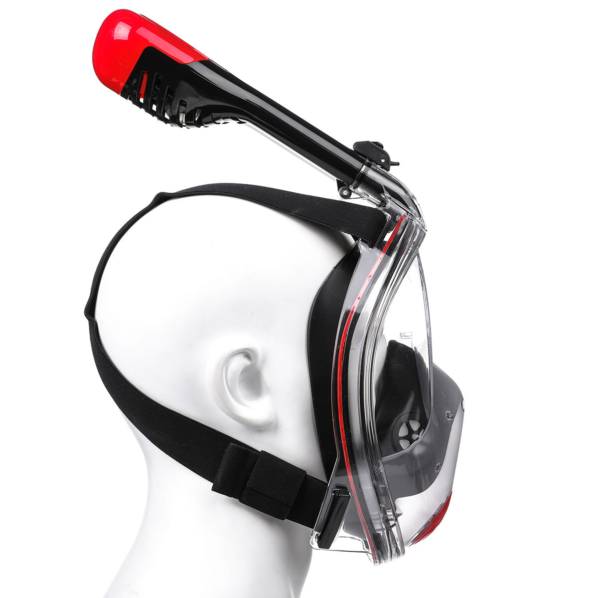 CAMTOA Foldable 180° Full Face Snorkeling Mask Anti fog Diving Respirator Mask with Detachable Camera Stand Net Bag - 5