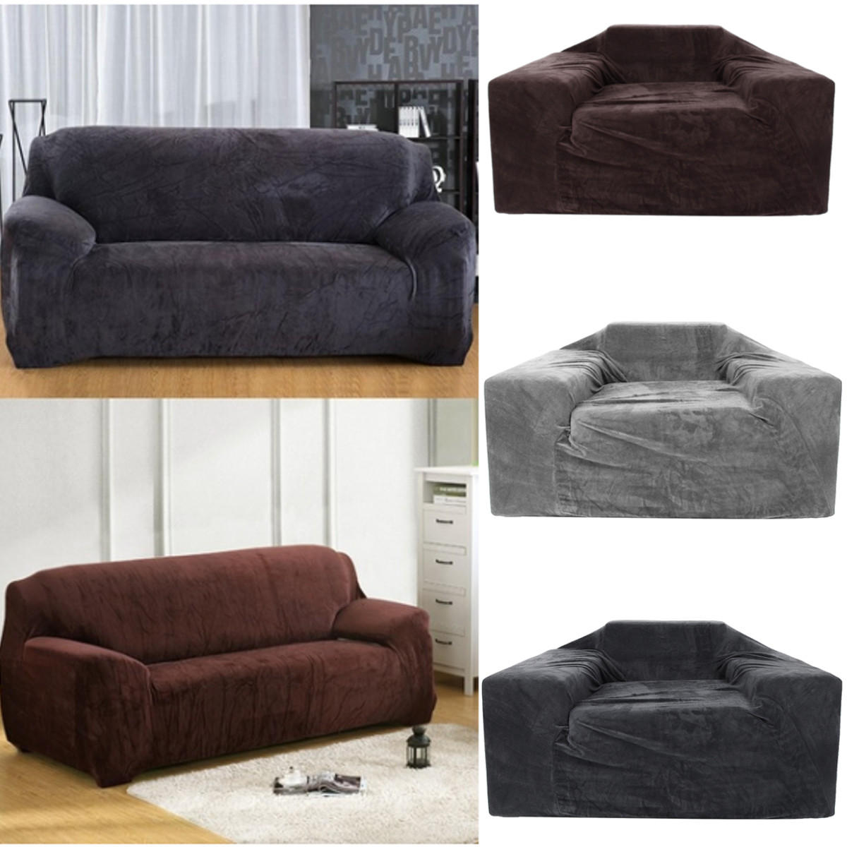 Couch Slipcover Stretch Chair Elastic