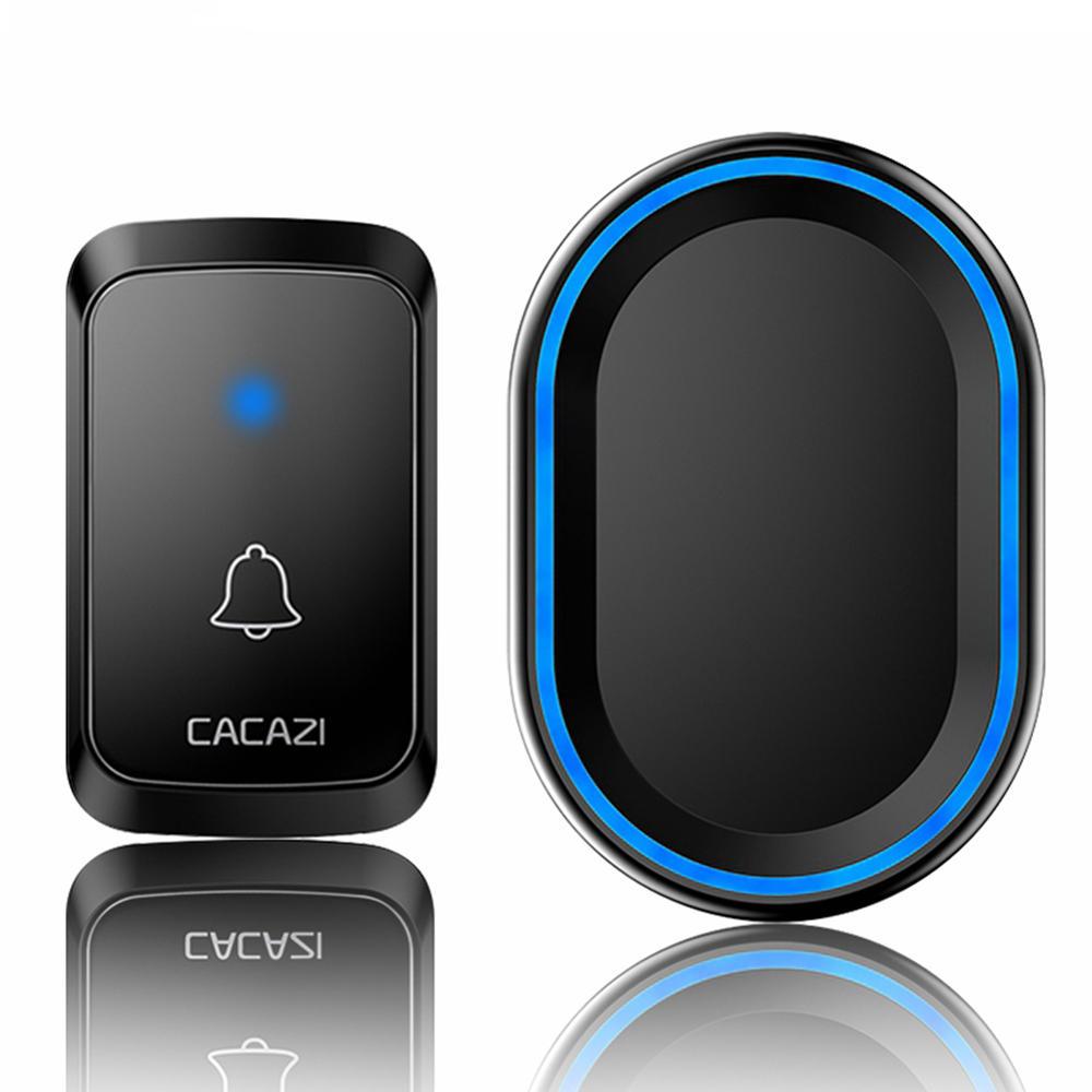 CACAZI A80 1 Receiver 1  Transmitter 300M Remote Waterproof US EU UK AU Plug Wireless Smart Digital AC Doorbell