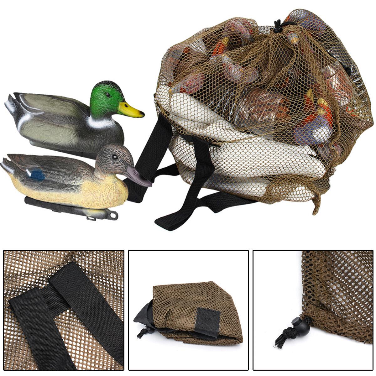 ZANLURE 120x75cm Large Outdoor Duck Decoys Bag Mesh With Shoulder Straps Backpack Decoy Storage Net Bag for Hunting