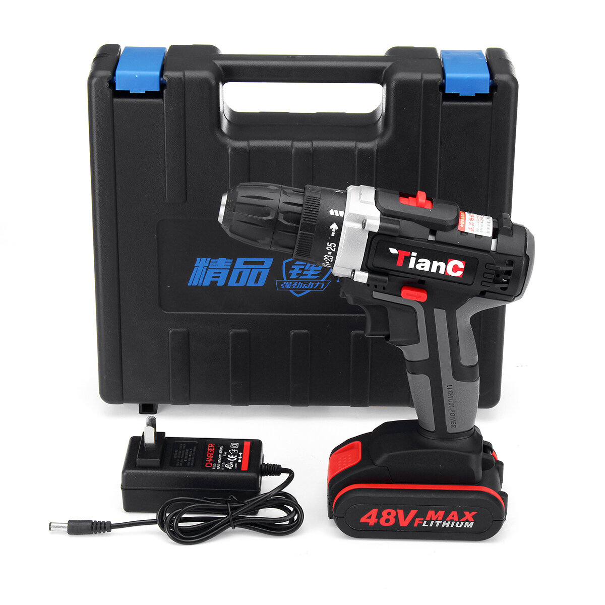 Minleaf ML-ED1 48VF Cordless Electric Impact Drill Rechargeable Drill Screwdriver W/ 1 or 2 Li-ion Battery - 2
