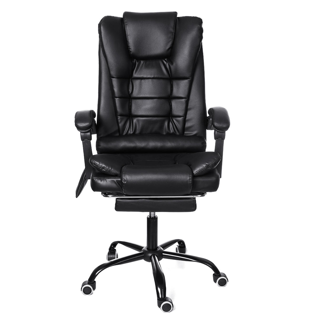 Ergonomic High Back Reclining Office Boss Chair Adjustable Height Rotating Lift Chair PU Leather Gaming Chair Laptop Desk Chair with Footrest and Phone Bag Coupon Code and price! - $93