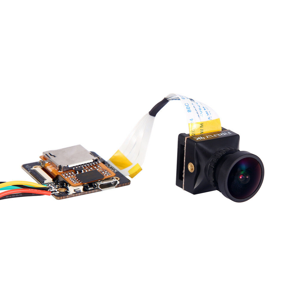 Hawkeye Firefly Split Mini Version 4K 170 Degree HD Recording DVR FPV Camera WDR Single Board  Built-in Mic Low Latency TV Output for RC Drone Airplane