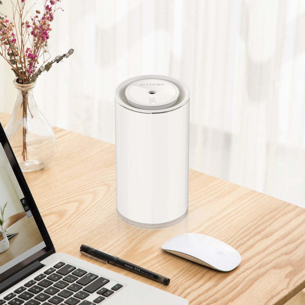 Blitzwolf® BW FUN2 Electric 400mL Touch Control Ultrasonic Humidifier With LED Light Home Desktop USB Air Purifier Mist Diffuser - 3