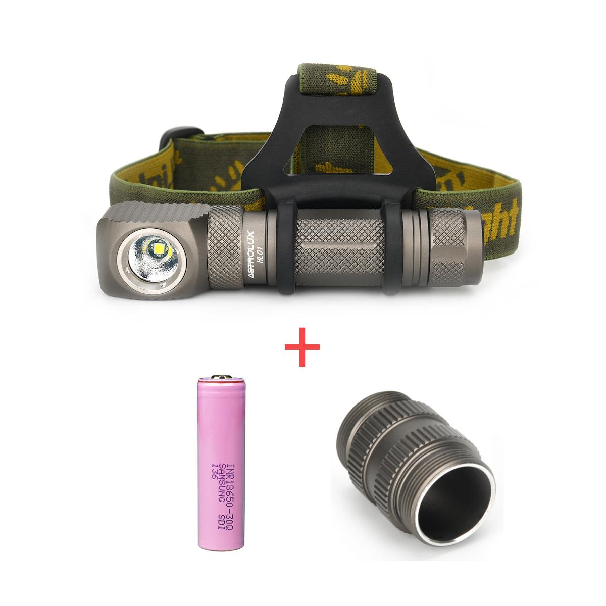 Astrolux HL01 1200lm Anduril UI Magnetic Headlamp L-shape Flashlight + 30Q 3000mAh 18650 Battery