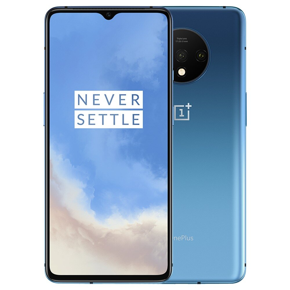 OnePlus 7T Global Rom 6.55 inch 90Hz Cairan AMOLED Display HDR10 + Android 10 NFC 3800mAh 48MP Triple Kamera Belakang 8GB RAM 128GB ROM UFS 3.0 Snapdragon 855 Ditambah Octa Core 2.96GHz 4G Smartphone