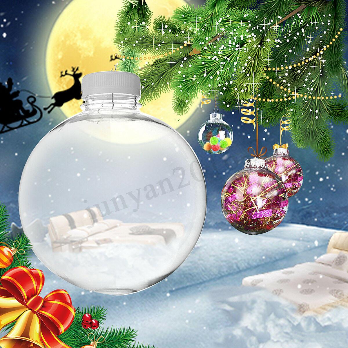 Super klar kunststoffkugeln diy weihnachtsbäume hängen kugel dekoration spielzeug - 4