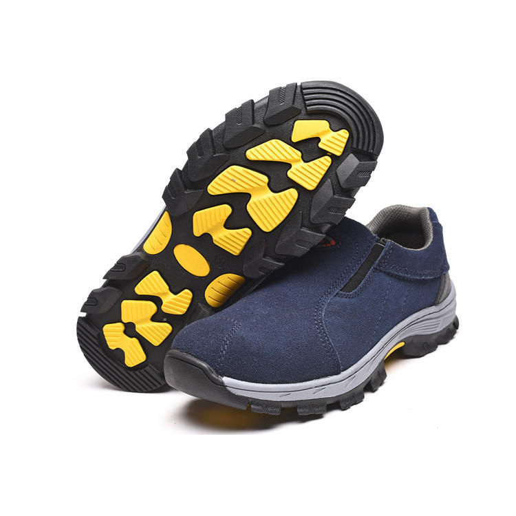 TENGOO Men's Leather Hiking Steel Toe Work Safety Mesh Anti-slip Anti-Collision Climbing Shoes Safety Shoes - 3