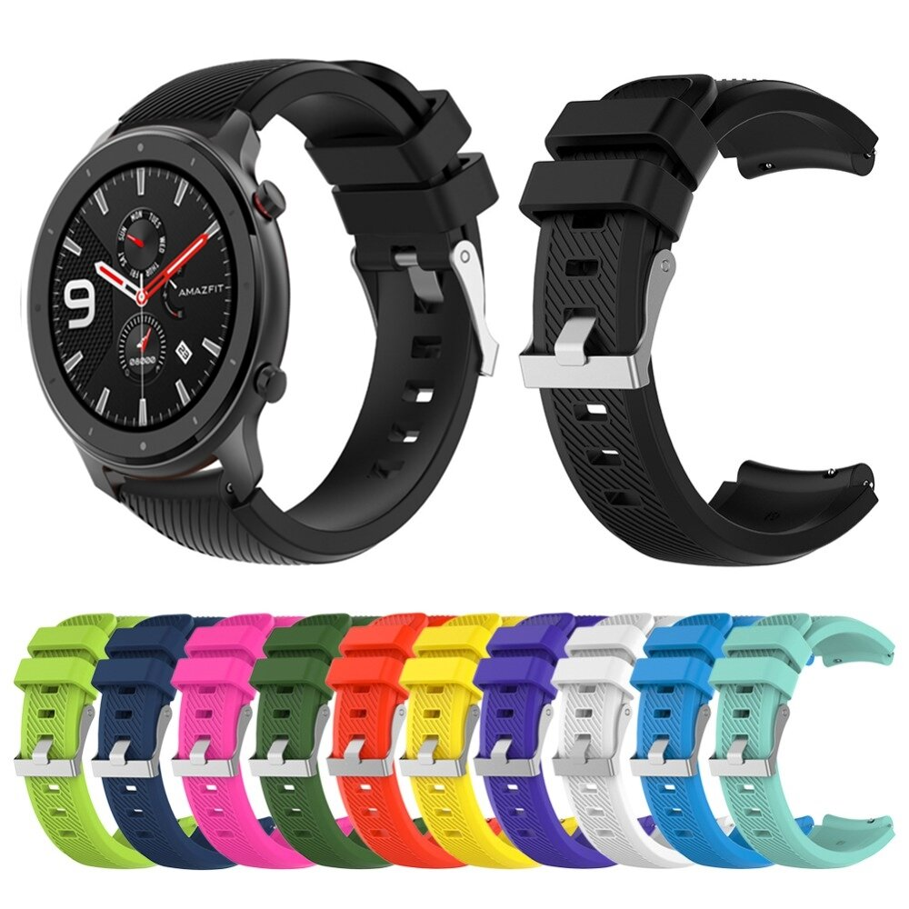 Penggantian Grain Watch Band Watch Strap untuk Smart Watch Amazfit GTR 47mm