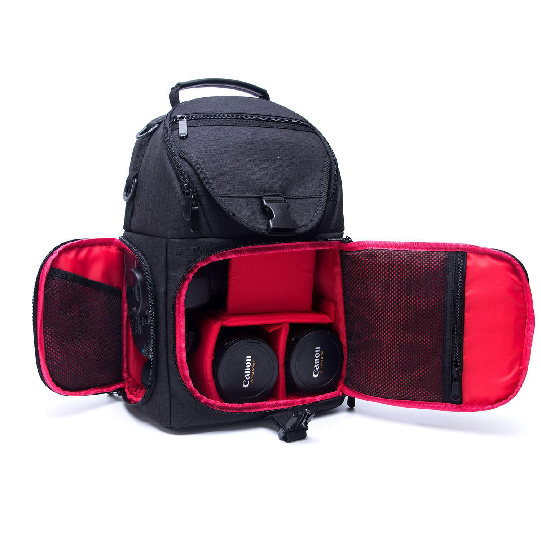 Water-Resistant Anti-theft Shockproof Travel Carry Sling Bag Backpack for DSLR Camera Lens Tripod Video Light Stand