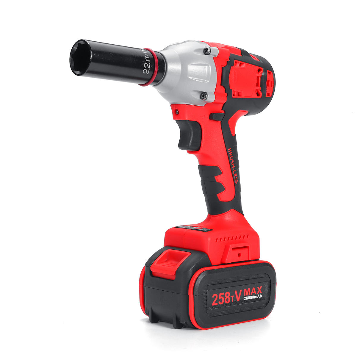 28000mAh Electric Wrench Power Drill Brushless Impact Wrench Socket Wrench 21V Li...