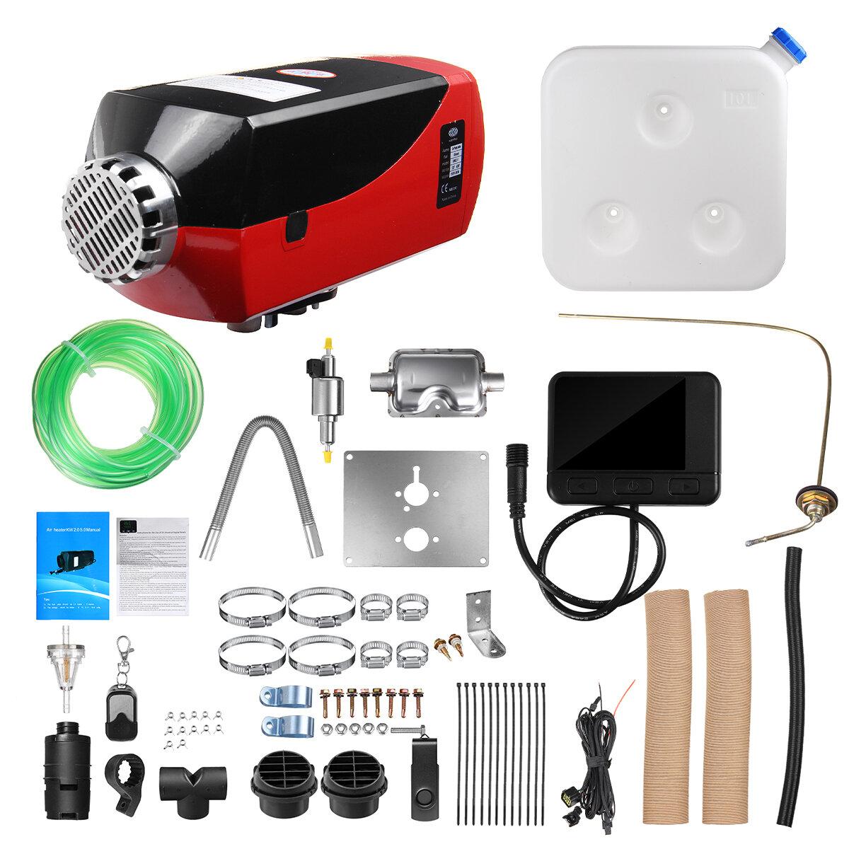 12V 8KW Diesel Air Calentador Todo incluido One Coche Estacionamiento Calentador Negro LCD Termostato Control remoto