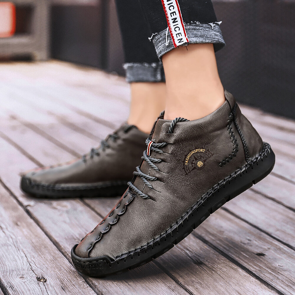 Menico Large Size Men Comfy Casual Microfiber Leather Oxfords Shoes - 10