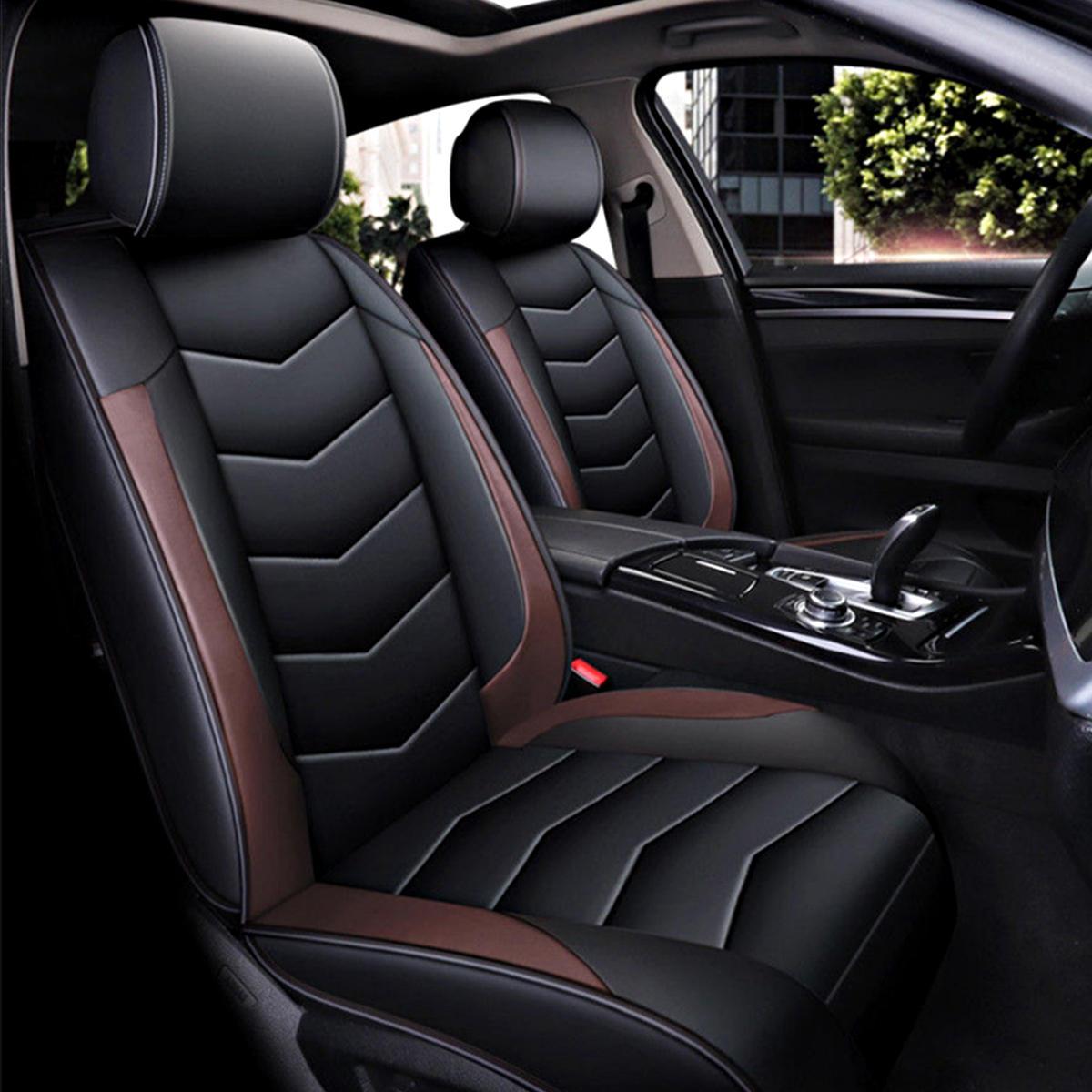प्रूफ पु लेदर कार सीट कवर कुशन 5-सीट फ्रंट रियर पिलो 13 पीएससी किट पहनें