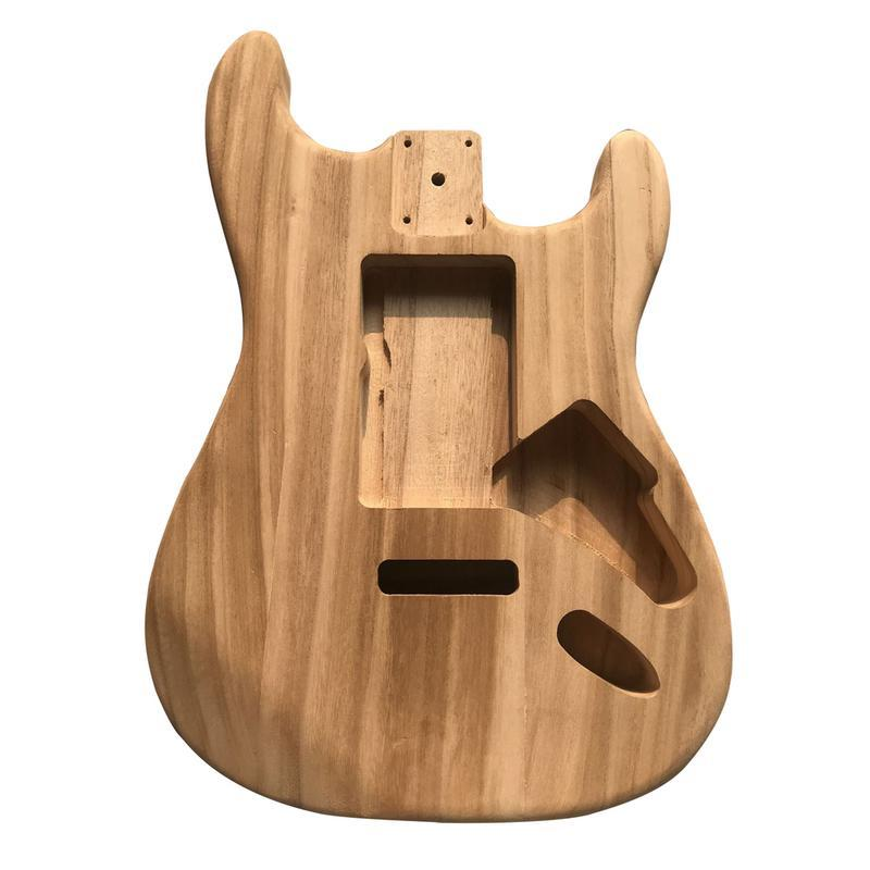 DIY Unfinished Maple Wood Type ST Electric Guitar Barrel Body for Guitar Replace Parts - 1