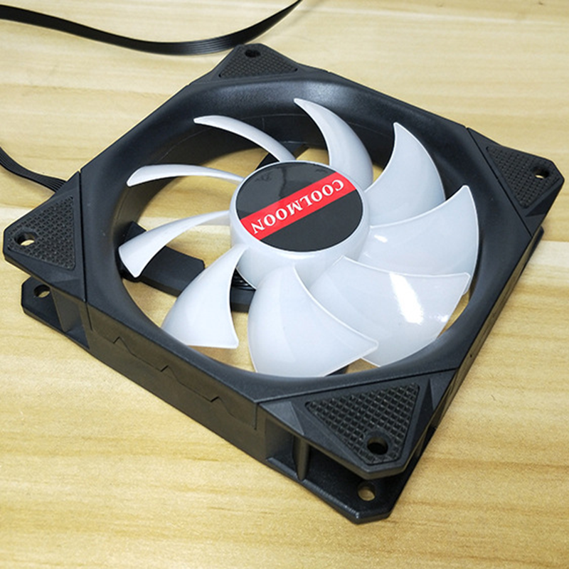 Coolmoon 3PCS 120mm Adjustable RGB LED Light Computer Case PC Cooling Fan with Remote - 6