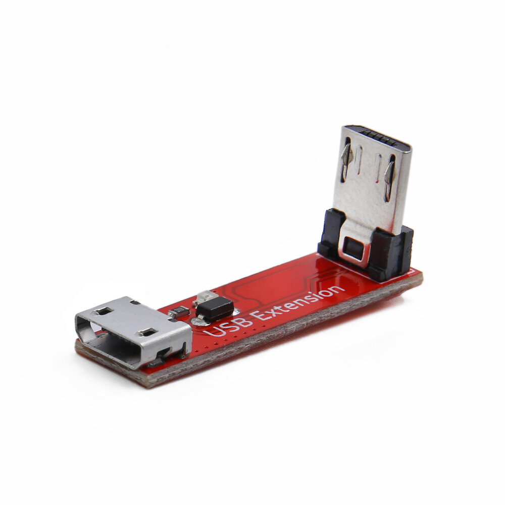 GEPRC 90 Degree L Type Right Angle Micro USB Transfer Extension Module Cable Female to Male for RC Drone