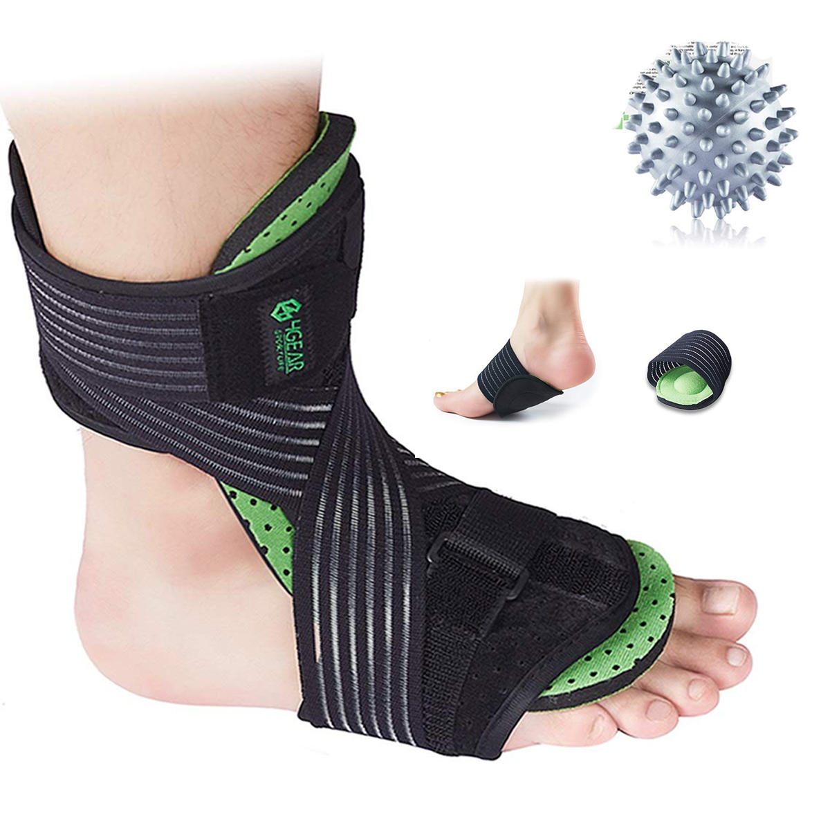 Ankle Support Brace Compression Tendon Pain Relief Strap Foot Sprains Injury Wrap