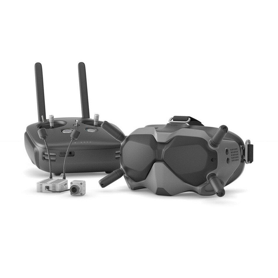 DJI Dijital FPV Sistem Hava Ünitesi 5.8 GHz 8CH Verici HD 1080P Kamera 1440X810 Gözlüğü Combo Uzakdan Kumanda Denetleyici Modu ile 2 RC Racing için Süper Düşük Gecikme Drone