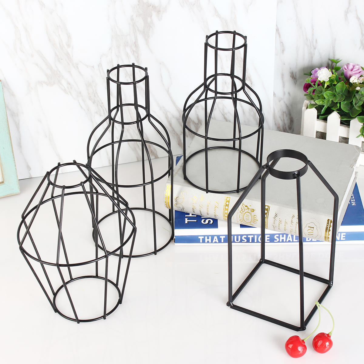 Retro Flower Stand Chic Indoor Garden Metal Plant Holder Display Planter Vase - 3