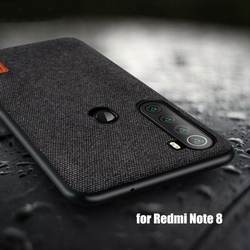 Bakeey Empalme de tela de lujo Soft Silicona Borde a prueba de golpes protector Caso para Xiaomi Redmi Note 8