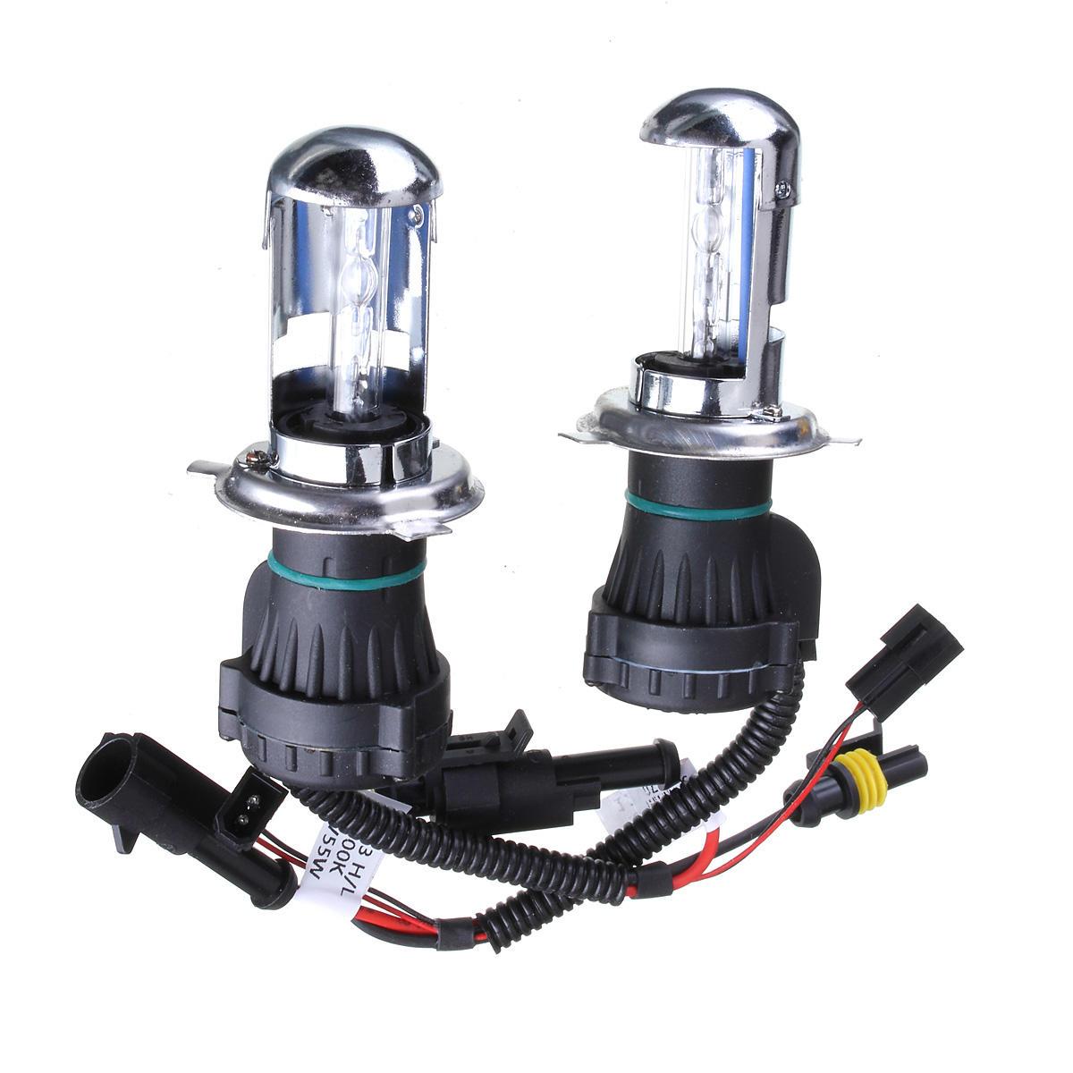 2PCS H4 55W Car HID Xenon Headlights Hi/Lo Bi Beam Headlamp Bulb 3000K-15000K