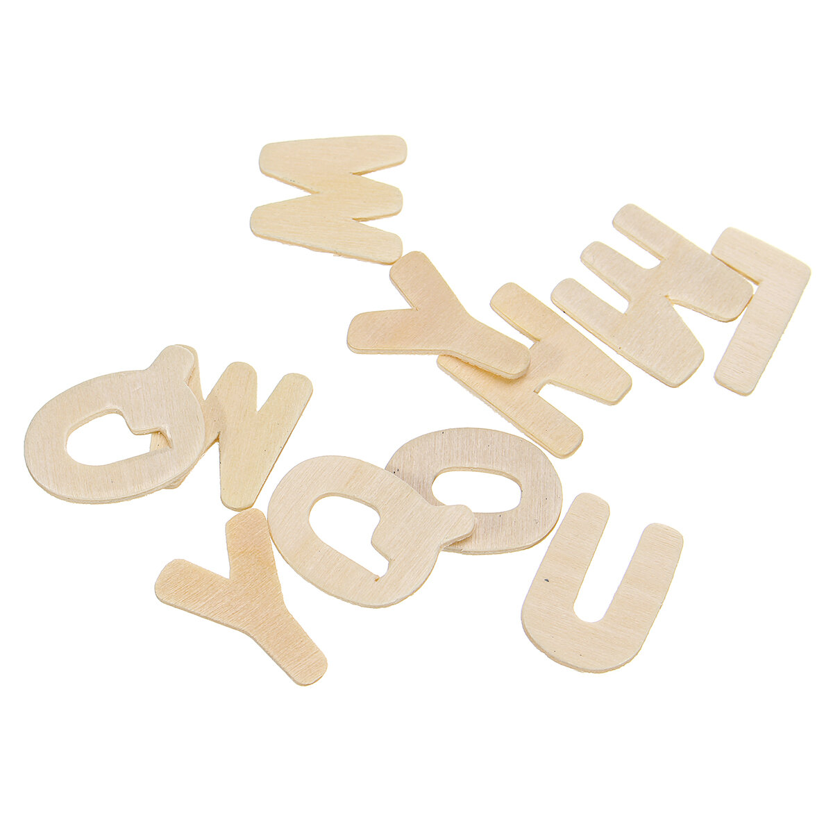 156X Wooden Scrabble Tiles Letters Puzzle Blocks Crafts Wood Alphabet Kids Early Education Toys Gift - 9