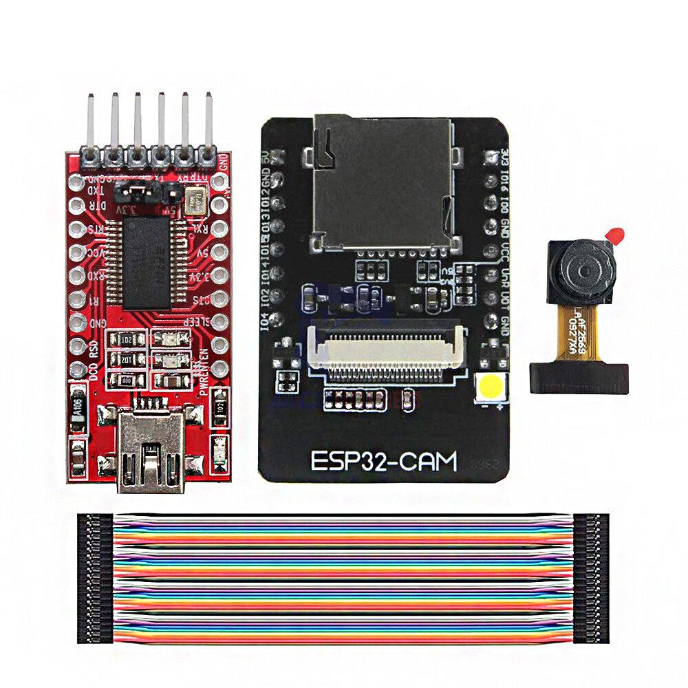 Banggood coupon: ESP32-CAM WiFi + bluetooth Development Board ESP32 with FT232RL FTDI USB to TTL Serial Converter 40 Pin Jumper