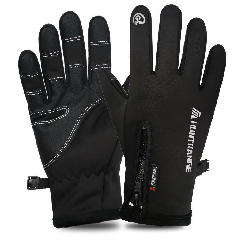 Водонепроницаемая ветрозащитная перчатка с сенсорным экраном На открытом воздухе Велоспорт Лыжи зима теплая Перчатки фото