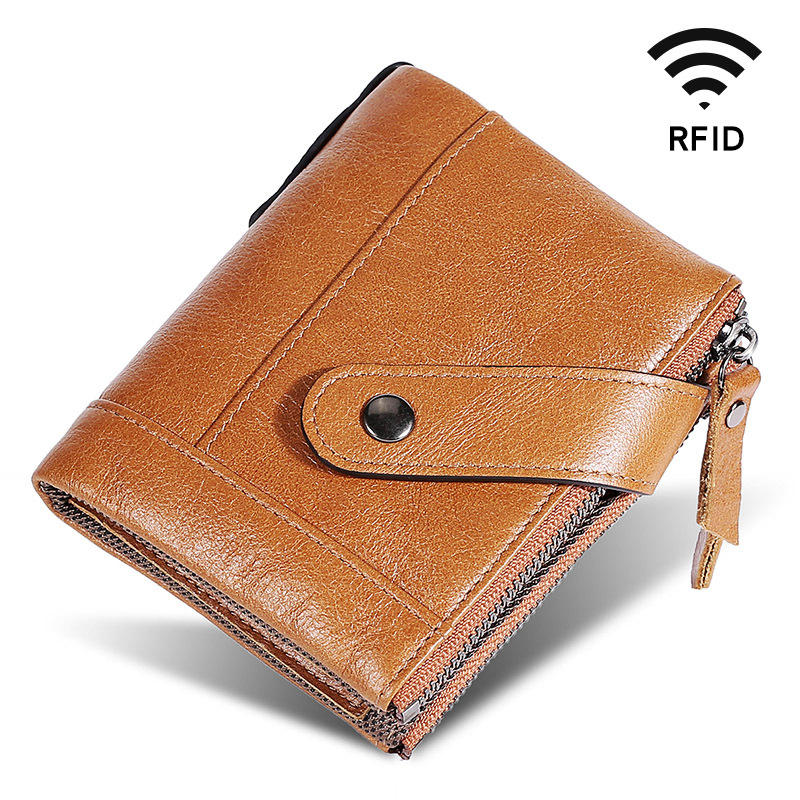 Men Genuine Leather RFID Block...