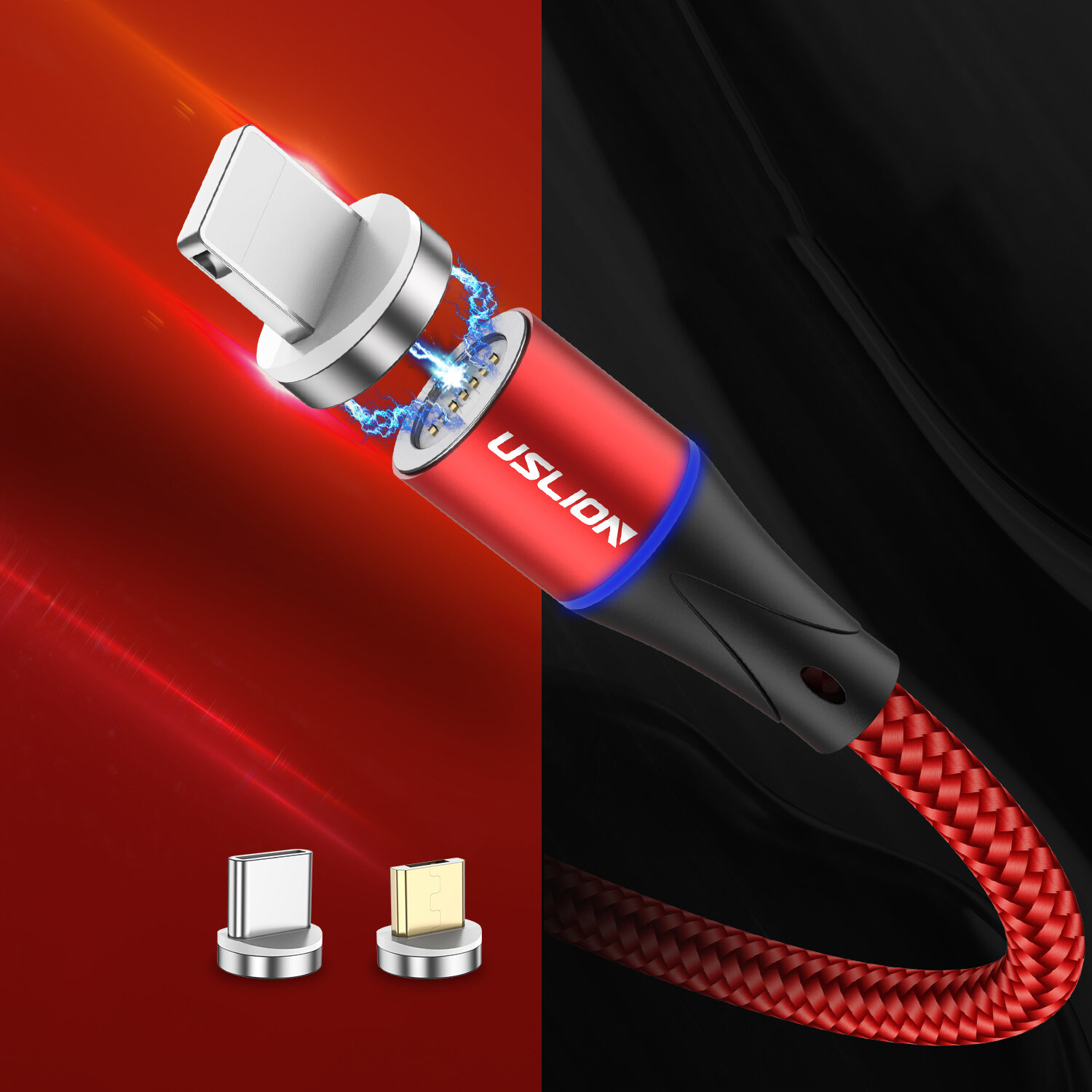 TOPK D-Line1 3A QC3.0 Voltage Current Display Type C Fast Charging Data Cable 1M For Phone Tablet - 8