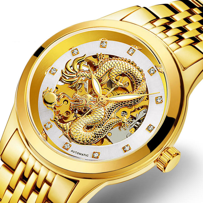 GUANQIN GQ16036 Roman Number Automatic Mechanical Watch - 2