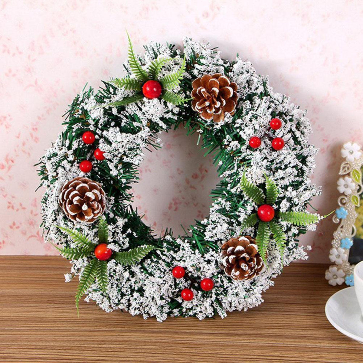 Christmas Wreath Decor For Xmas Party Door Wall Hanging Home Garland Ornament Christmas Decorations