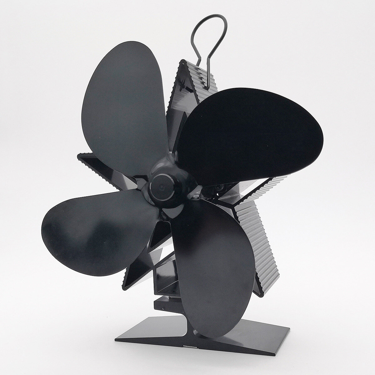 4-Blade Heat Powered Stove Fan for Wood/Log Burner/Fireplace Increases More Warm Air Eco-Friendly Household Fireplace Fa