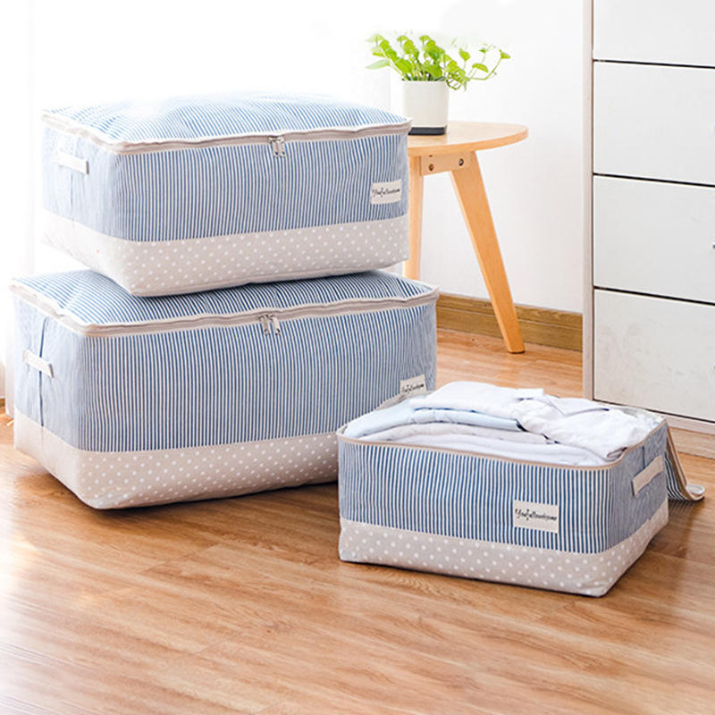 Thick Cotton Linen Clothing Quilts Storage Bag Quilt Washable Finishing Bag Storage Box