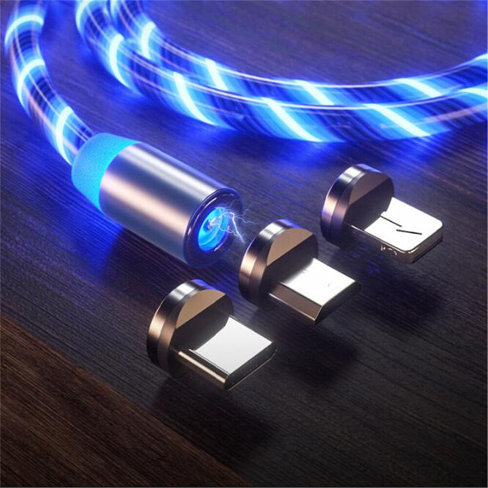 Bakeey 2.4A Micro USB Type C LED Light Magnetic Fast Charging Data Cable For Huawei P30 Pro Mate 30 Xiaomi 9 Pro Redmi 7A Redmi 6Pro OUKITEL Y4800