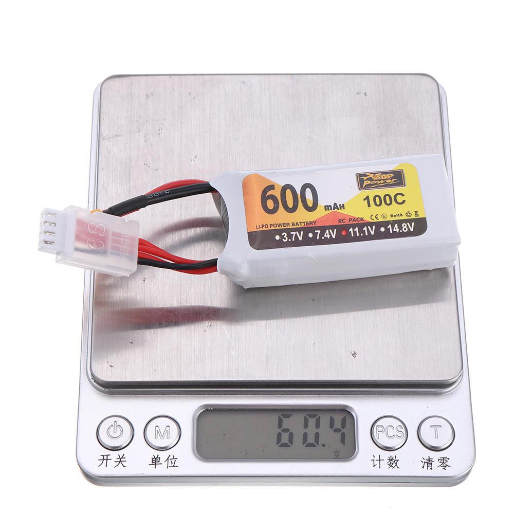 ZOP Power 11.1V 600mAh 100C 3S Lipo Batterie XT30 Fiche pour Eachine Lizard95 FPV Racer - 10