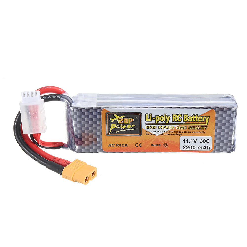 ZOP Power 11.1V 2200MAH 3S 30C Lipo Batterie XT60 Stecker - 2
